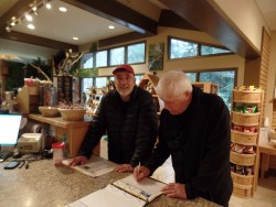 Signing the book at Springer Mountain