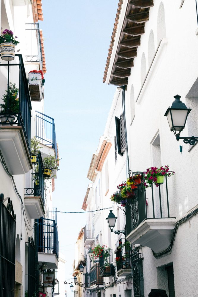 Gasse in Sitges