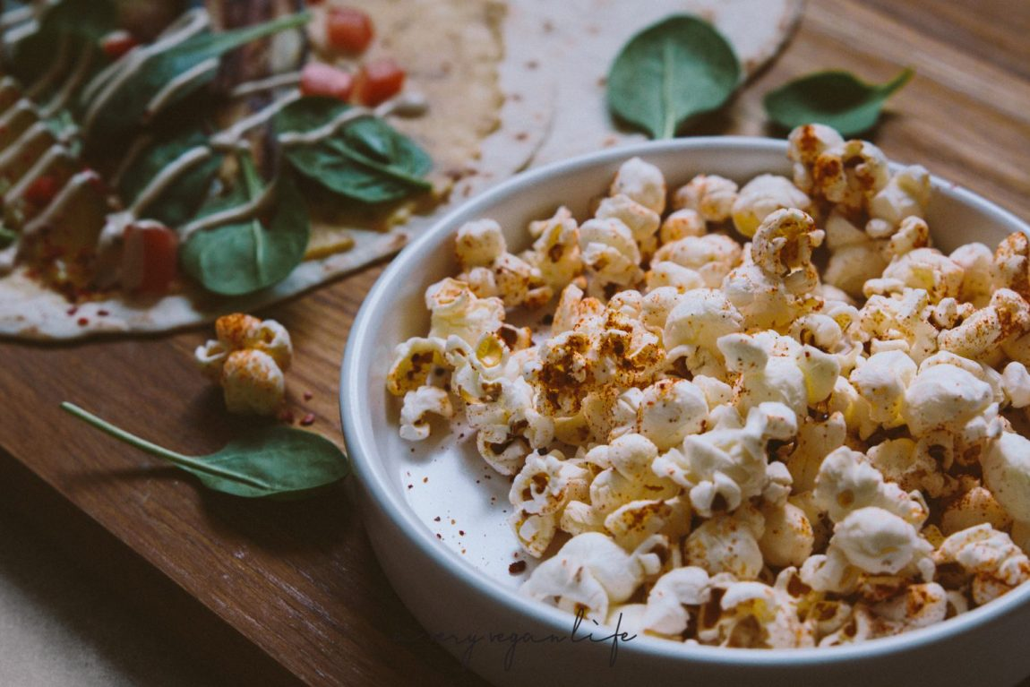 Popcorn mit Harissa