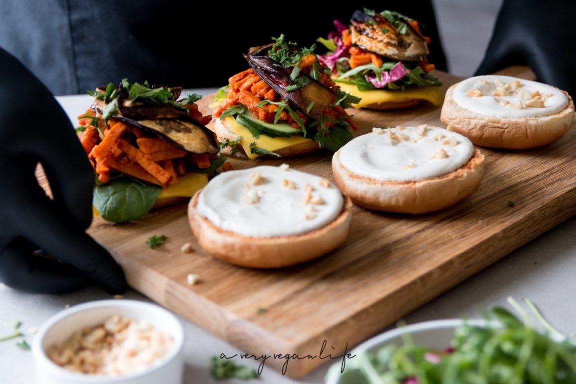 Vegane Burger mit Süßkartoffel