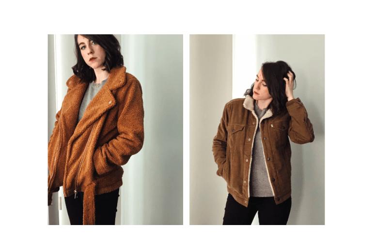 brown teddy coat sherpa coat