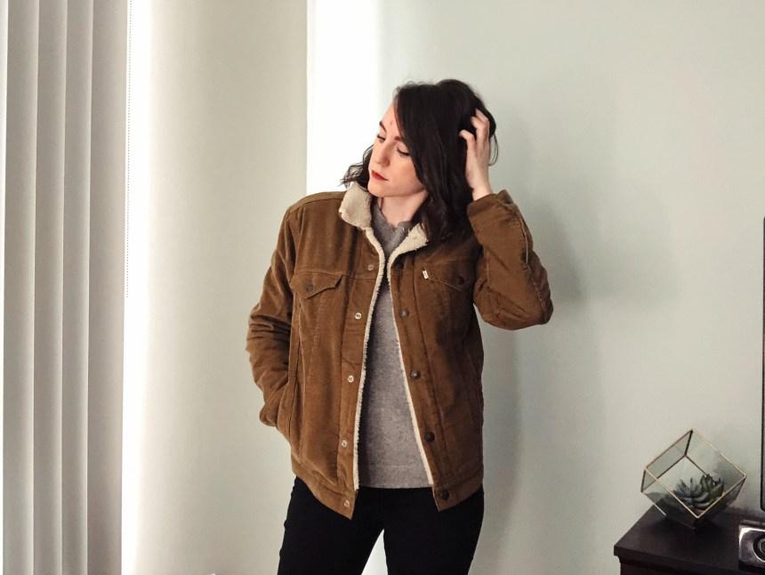levis corduroy jacket brown