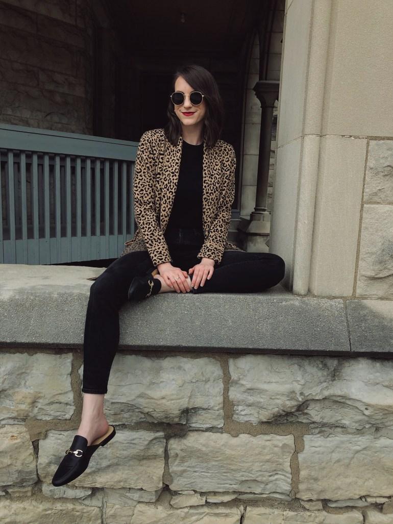 leopard print cardigan fall