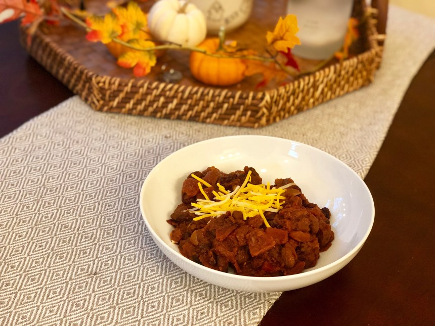 three bean vegetarian chili recipe