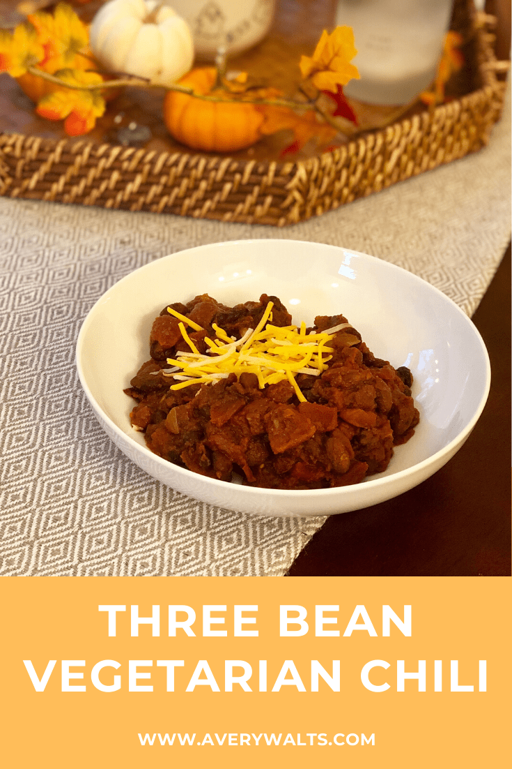 3 Bean Vegetarian CHILI - pinterest