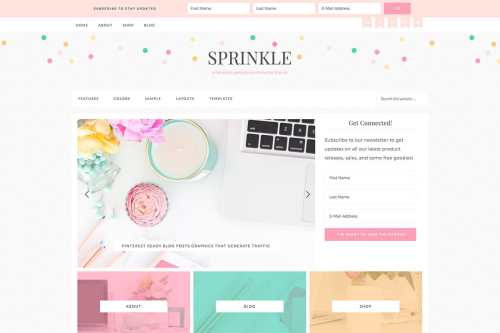 Avery's favorite WordPress theme is the Sprinkle Pro Theme!