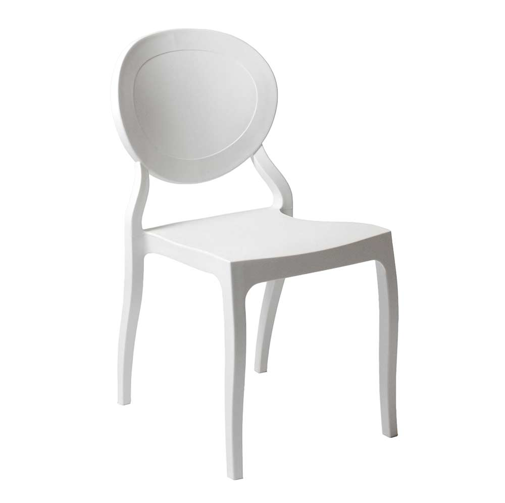 White Stackable Chairs Modern Stackable Chair White Estyle 701 Modern Chairs