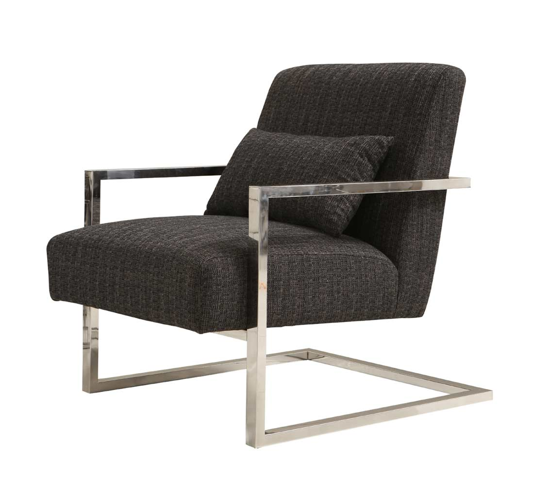 Accent Chairs Modern Charcoal Fabric Accent Chair Ar461 Accent Seating