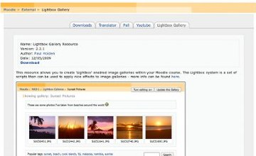 Moodle Lightbox Gallery example