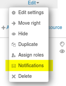 Resource notification