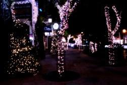 Santa Barbara on a winter night.