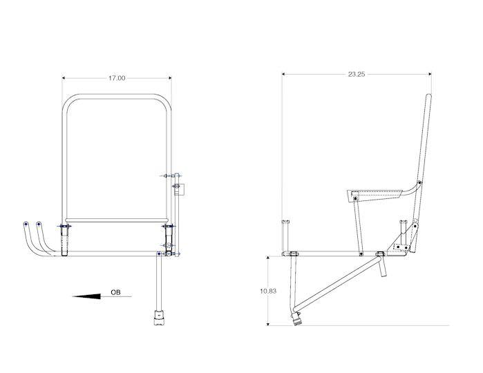 King Air LH Aft Jump Seat installation Kit » Aviation