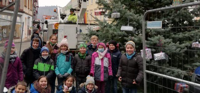 Weihnachtsbaum schmücken am Obermarkt