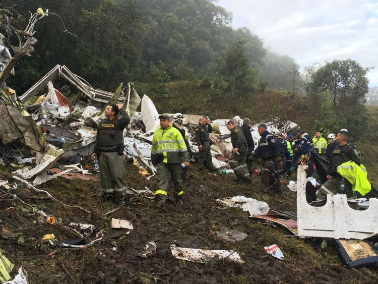 First daylight impressions from the crash site (Photo: Telemedellin)