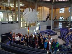 Der Schüleraustausch St. Petersburg im Jahr 2015 besucht den Deutschen Bundestag