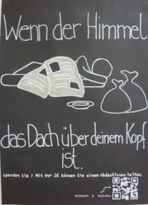 """Plakat zum Thema """"Hilfe für Obdachlose"""""""