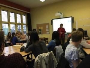 Während des Vortrags von Michelle Logsdon