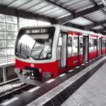 S-Bahnzug im Bahnhof