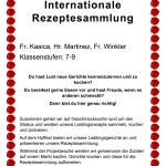 Plakat fuer die AvH Projektwoche Thema Zusammen kochen Internationale Rezeptsammlung