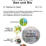 Plakat fuer die AvH Projektwoche Thema Basteln elektrischer Lernspiele für Bio und Geo