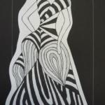 Figurine schwarz-weiß