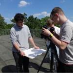 orbereitungen zur Beobachtung - Aufbau und Ausrichtung des Fernrohrs