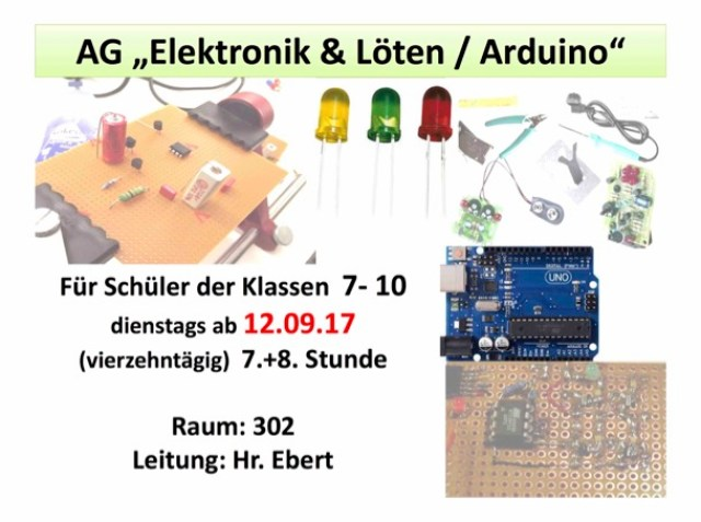 Flyer der Arbeitsgemeinschaft Elektronik und Löten