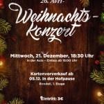 Plakat für das 26. AvH- Weihnachstkonzert