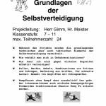 Grundlagen der Selbstverteidigung; Nr. 27 - 20 Plätze