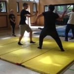 Kampfszenen beim Selbstverteidigungskurs