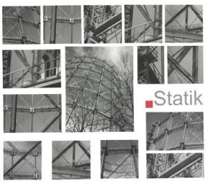 Die Fotoreihe zeigt Details des Gasometers in Schöneberg.