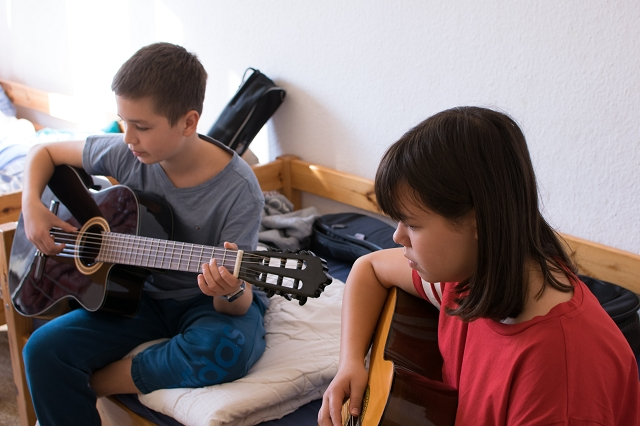 Registerprobe bei den Gitarristen