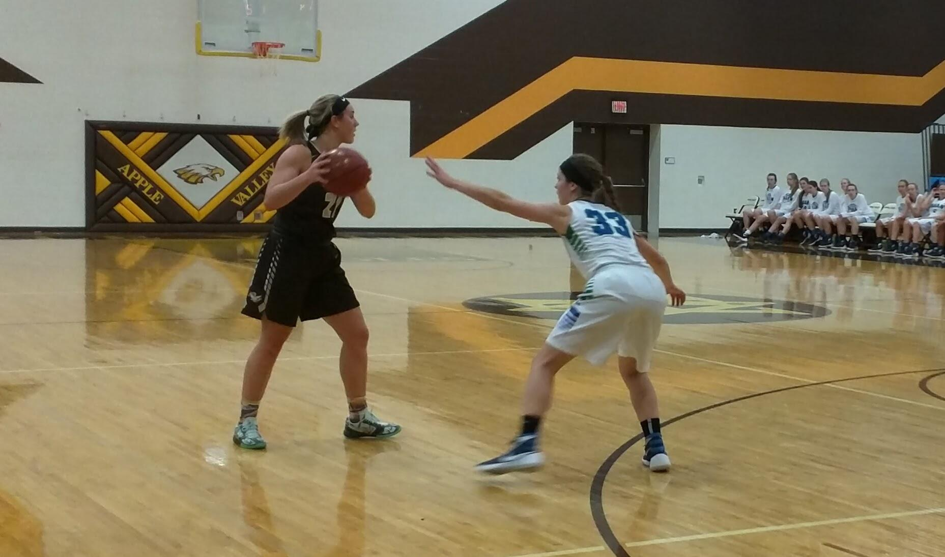 Apple Valley runs its offense against Eagan.