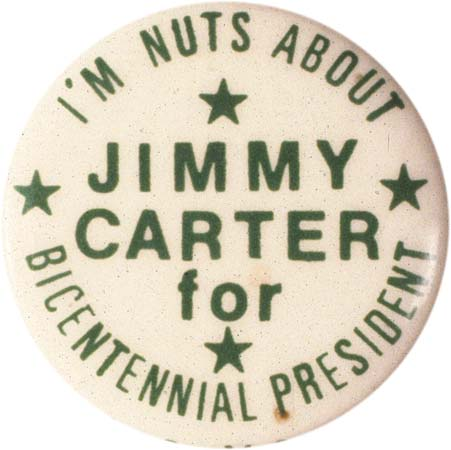 Button from Jimmy Carter's 1976 presidential campaign.