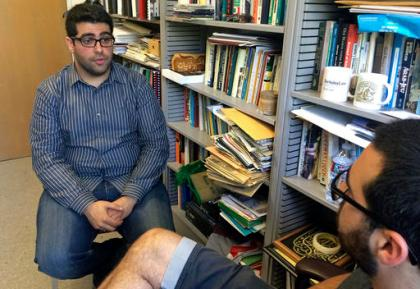 Khairuldeen Makhzoomi talks during an interview in his office in Berkeley, Calif., Monday, April 18, 2016.