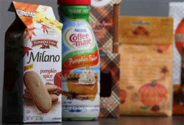 In this photo pumpkin spice products ranging from cookies and donuts to candy (AP Photo/John Bazemore)