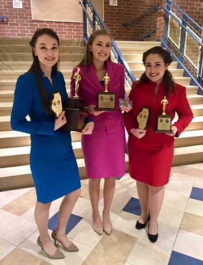 Three of the four speech captains attended Glenbrooks, and all three placed top-six in their individual events.