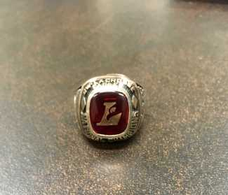 Mr. Jones' championship ring from UW-Lacrosse.