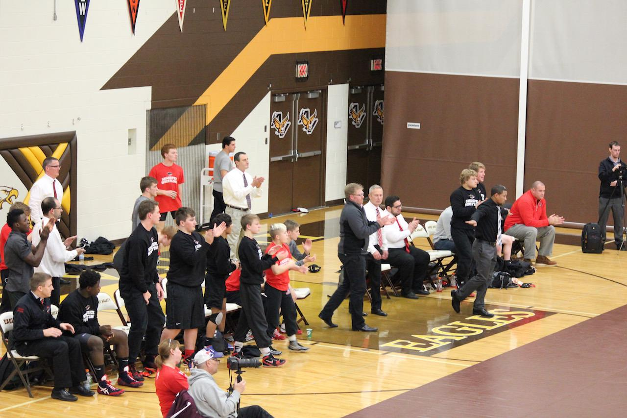 Shakopee celebrates a victory over top-ranked Apple Valley.