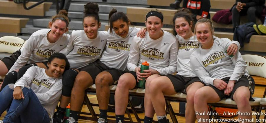 The Apple Valley girls basketball team has had plenty to smile about during their 14-5 start.