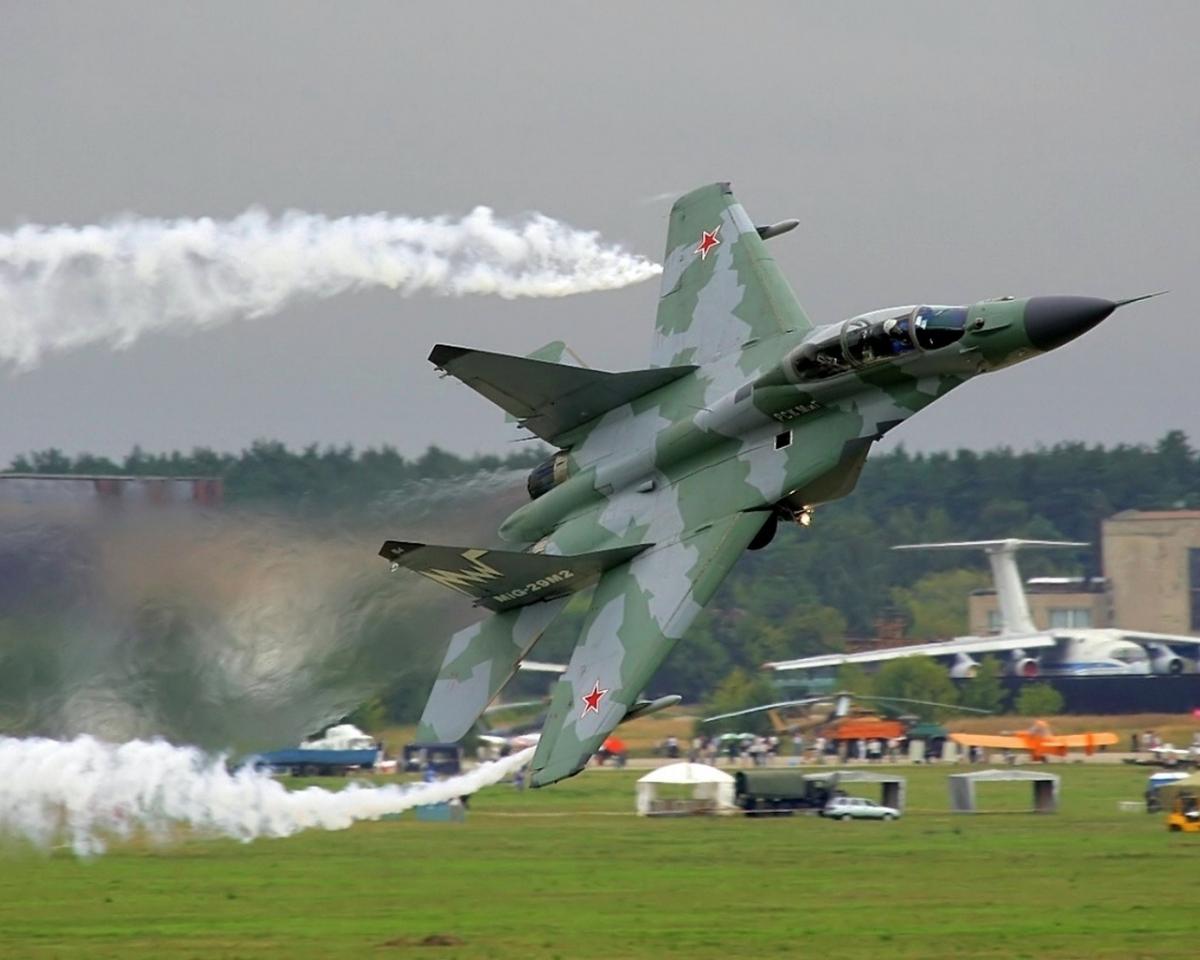 Обои четвёртого поколения, советский многоцелевой истребитель, 9-17, ввс россии, fulcrum, ОКБ МиГ, МиГ-29СМТ, модернизированный вариант истребителя МиГ-29СМ. Авиация foto 14