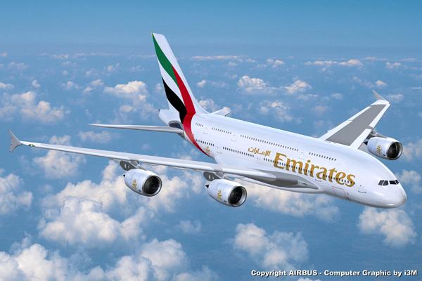Emirates com Airbus A380-800 em Guarulhos, Emirates com Airbus A380-800 em Guarulhos, Portal Aviação Brasil