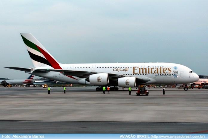 , Emirates inicia voos regulares com Airbus A380 em São Paulo, Portal Aviação Brasil