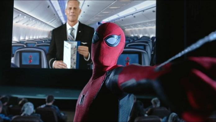 United Airlines apresenta novo vídeo de segurança em parceria com Homem-Aranha