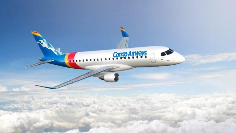 Congo Airways assina pedido firme para dois jatos Embraer 175