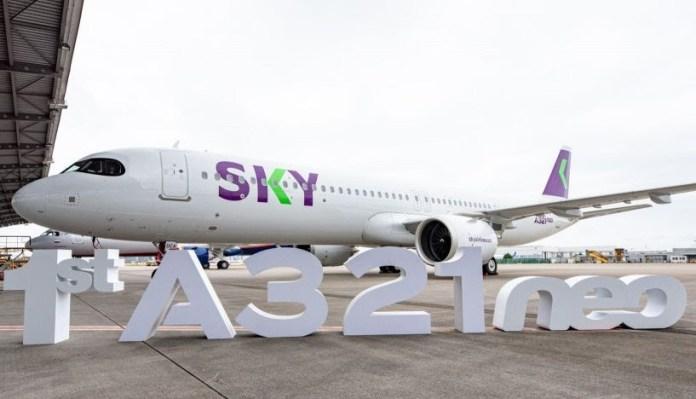 Sky Airline recebe seu primeiro A321neo
