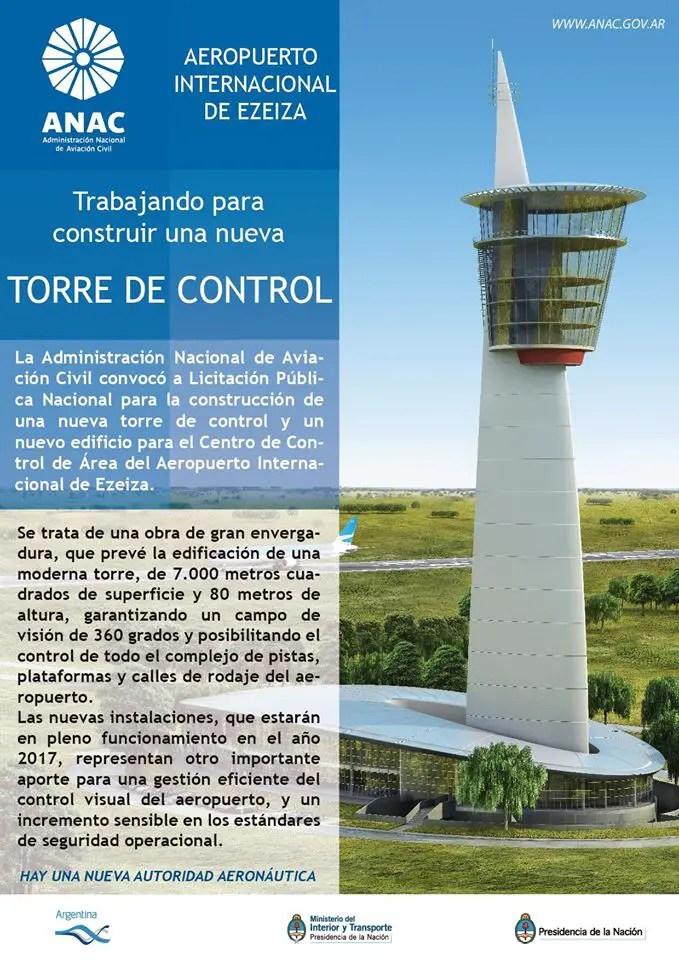 Nueva Torre de Control Aeropuerto de Ezeiza