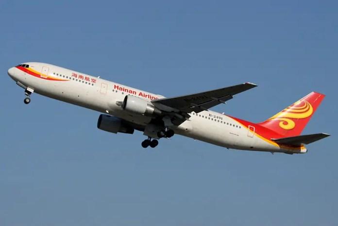 Boeing 767-300ER de Hainan Airlines. Foto: ChrisW/Wikimedia Commons