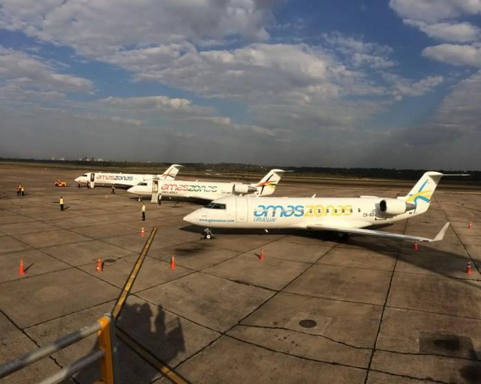 Aeronaves del grupo Amaszonas (Foto: prensa Amaszonas)