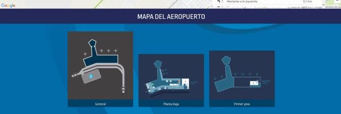 Aeropuertos Argentina 2000 - nuevo sitio web - mapa terminal